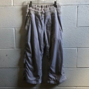 Lululemon gray & tan crop lined studio pant sz 6